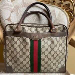 Authentic Vintage Gucci  Acc Collection GG Tote